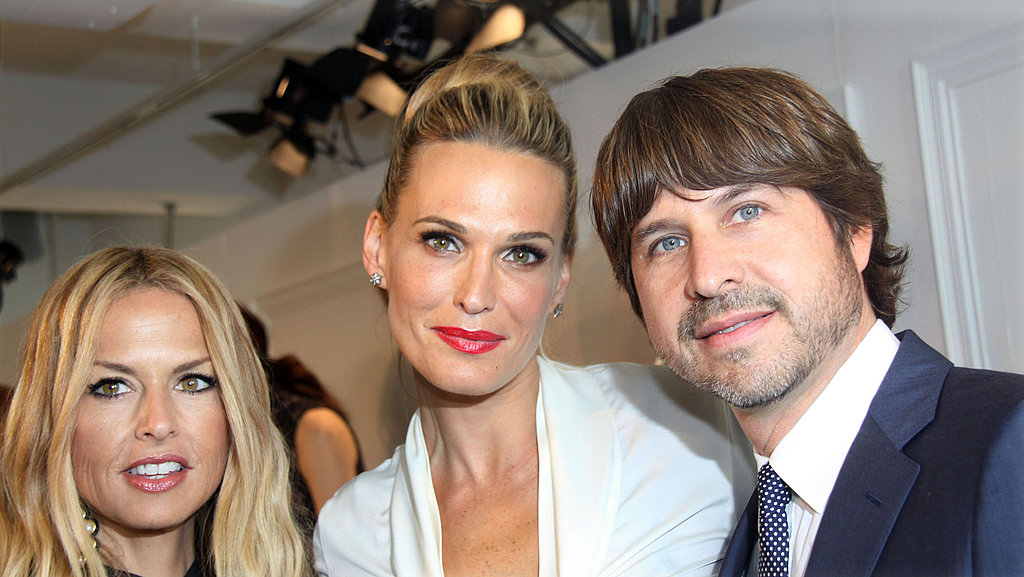 Molly Sims, Roger Berman, and Rachel Zoe posed at the Rachel Zoe Collection presentation in NYC.