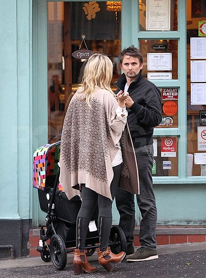 Kate Hudson and Matt Bellamy in London.