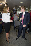 Prince Harry chatted with Eva Herzigova.