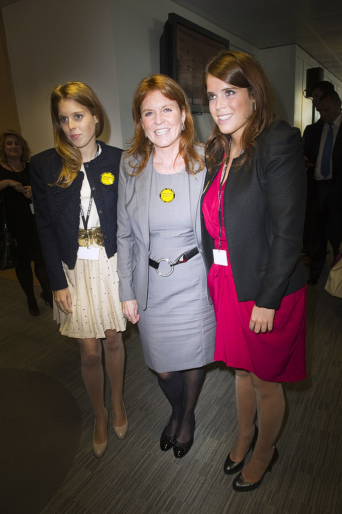 Princesses Beatrice and Eugenie posed for a photo with their mother, Sarah Ferguson.
