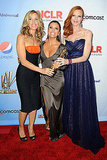 Felicity Huffman, Eva Longoria, and Marcia Cross at the ALMA Awards.