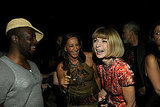 Donna Karan and Anna Wintour shared a laugh.