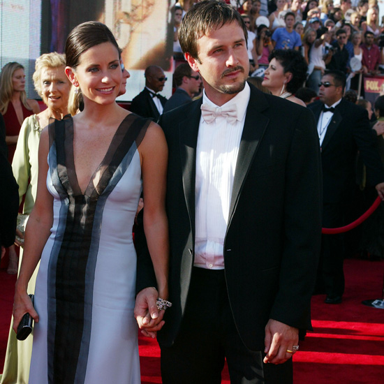 Courteney Cox and David Arquette walked the carpet holding hands at the 2003 Emmys.