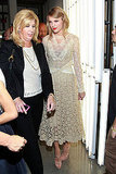 Taylor Swift arrived at the Rodarte show.