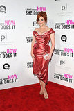 Christina Hendricks shimmered on the red carpet.