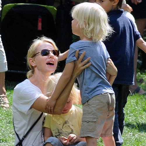 Naomi Watts With Sasha and Samuel at Park Pictures