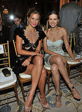 Bar Refaeli and Petra Nemcova at Marchesa.