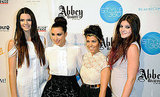 Kendall Jenner, Kim Kardashian, Kourtney Kardashian, and Kylie Jenner at Abbey Dawn.
