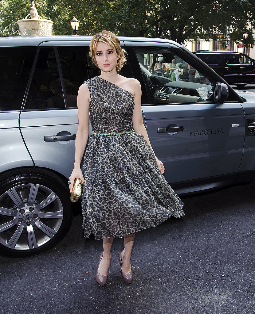 Emma Roberts at NY Fashion Week.