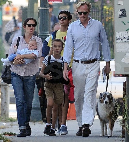 Jennifer Connelly and Paul Bettany with daughter Agnes.