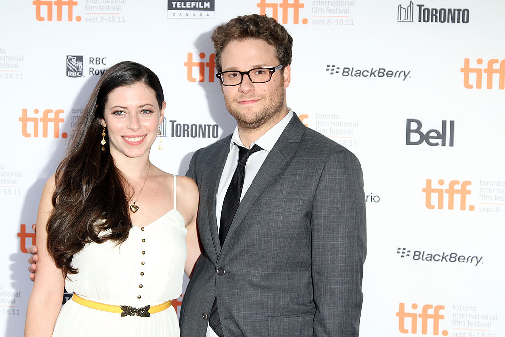 Seth Rogen and Lauren Miller posed at the 50/50 premiere.