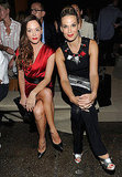 Molly Sims and Rose McGowan opted for bold red lips at Donna Karan.