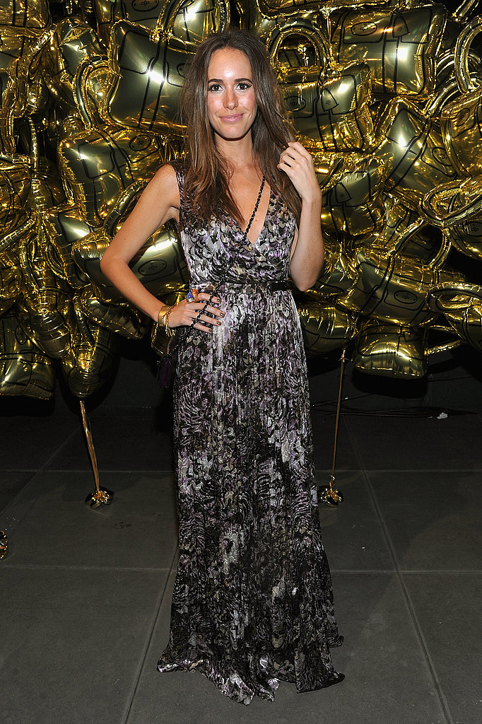Louise Roe rocks a printed maxi.
