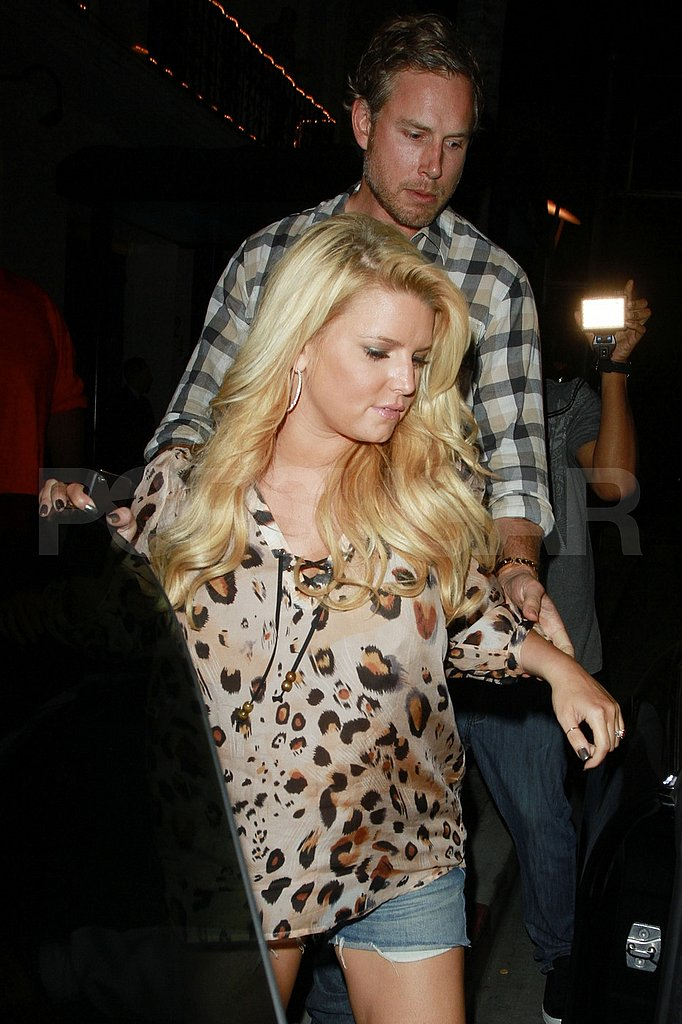 Jessica Simpson's night out at Madeo.