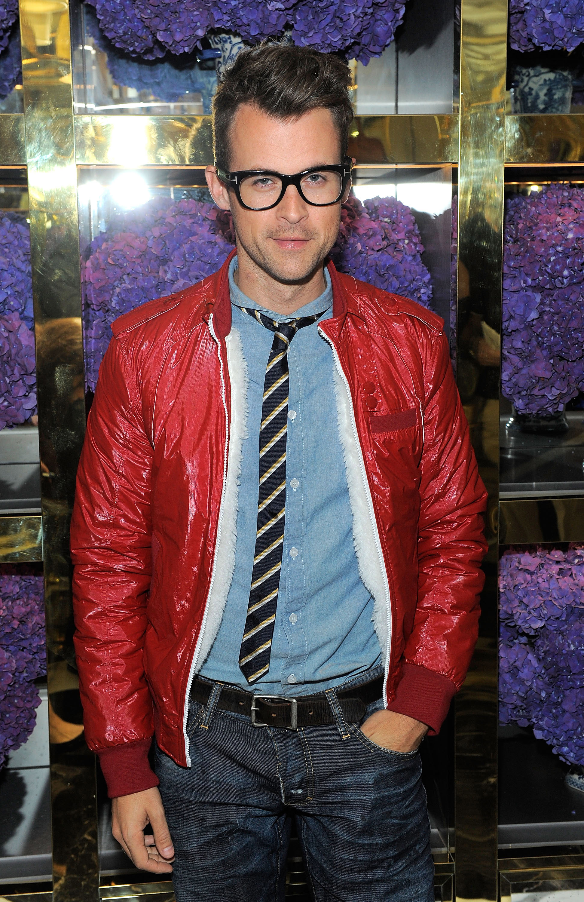 Brad Goreski at Tory Burch store.