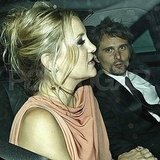 Kate Hudson and Matt Bellamy leave Stella McCartney's 40th birthday.