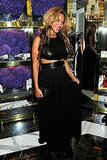 Beyoncé Knowles in a black gown in NYC.