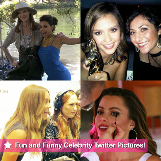 Jessica Alba, Eva Longoria, Sofia Vergara, and More in This Week's Fun and Funny Celebrity Twitter Pictures!