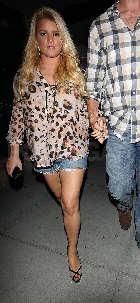 Jessica Simpson and Eric Johnson Do Dinner in LA