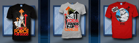 The Star Wars Stand Up to Cancer t-shirts ($25)