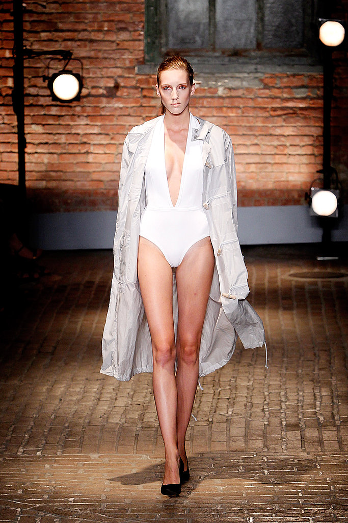 Yigal Azrouel delivered sexy, but understated sleek suits.