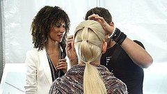 Backstage Beauty Report: The 3-Part Ponytail at Hervé Léger
