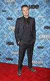 Michael Pitt wore dark blue to the Ziegfeld Theater.