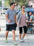Jessica Alba and Cash Warren stopped for a smoothie.