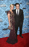 Ashlee Simpson and Vincent Piazza made their red carpet debut as a couple at the Boardwalk Empire premiere.