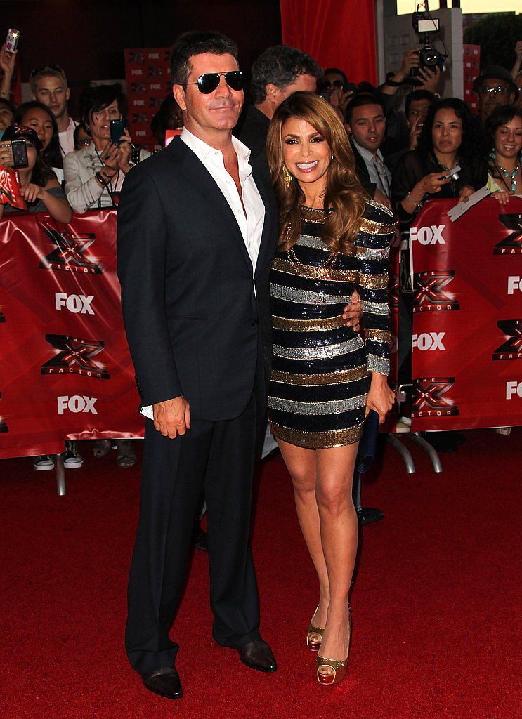 Paula and Simon met up on the carpet for a photo.