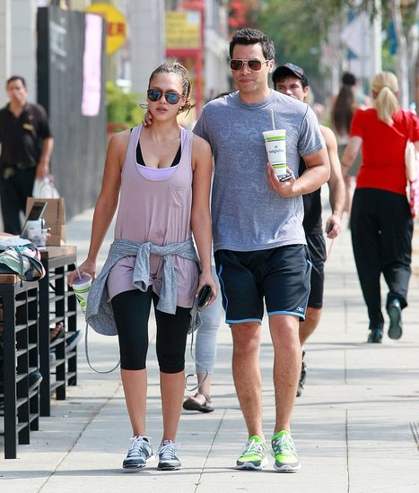 Cash Warren and Jessica Alba strolled in West Hollywood.