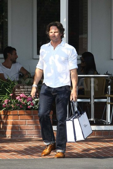 Robert Godley shopping at Fred Segal in LA.