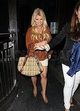 Jessica Simpson's night out at Bru Haus.