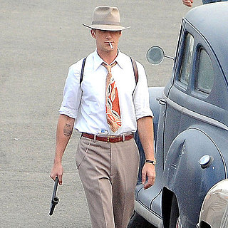 Ryan Gosling Smoking on Set of The Gangster Squad Pictures