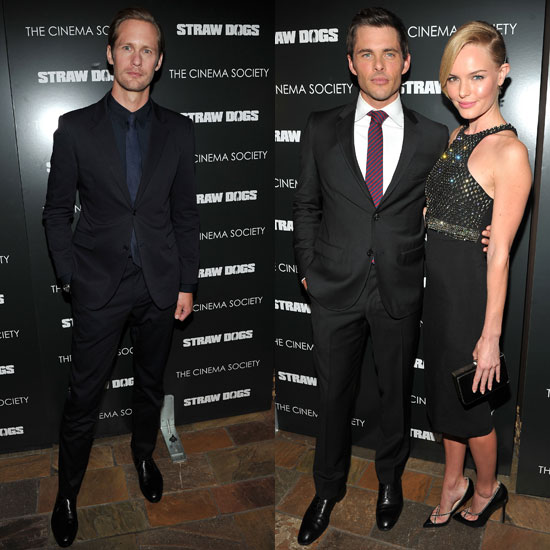 Kate Bosworth and Alexander Skarsgard Have a Red Carpet Reunion at the Straw Dogs Premiere