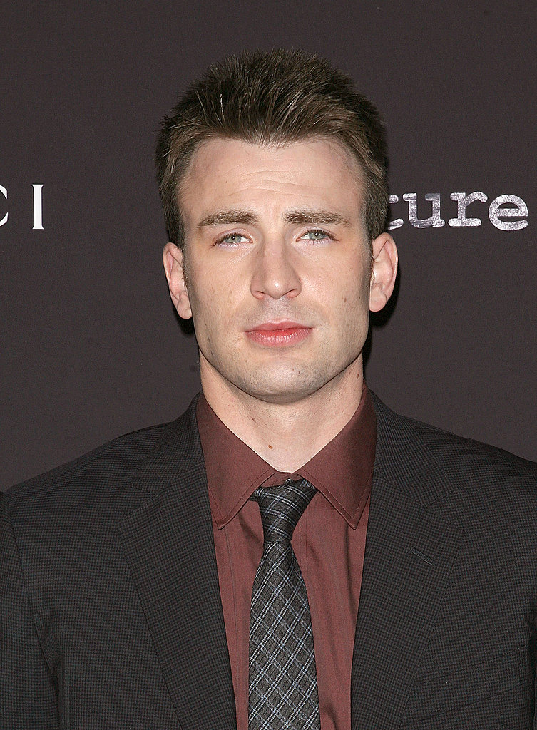 Chris Evans at a Gucci-sponsored premiere.