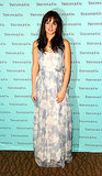 Leighton Meester donned a pretty maxidress for her performance at Tiffany & Co. at FNO.