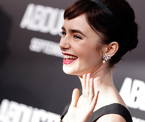 Lily Collins Channels Audrey Hepburn at Abduction Premiere