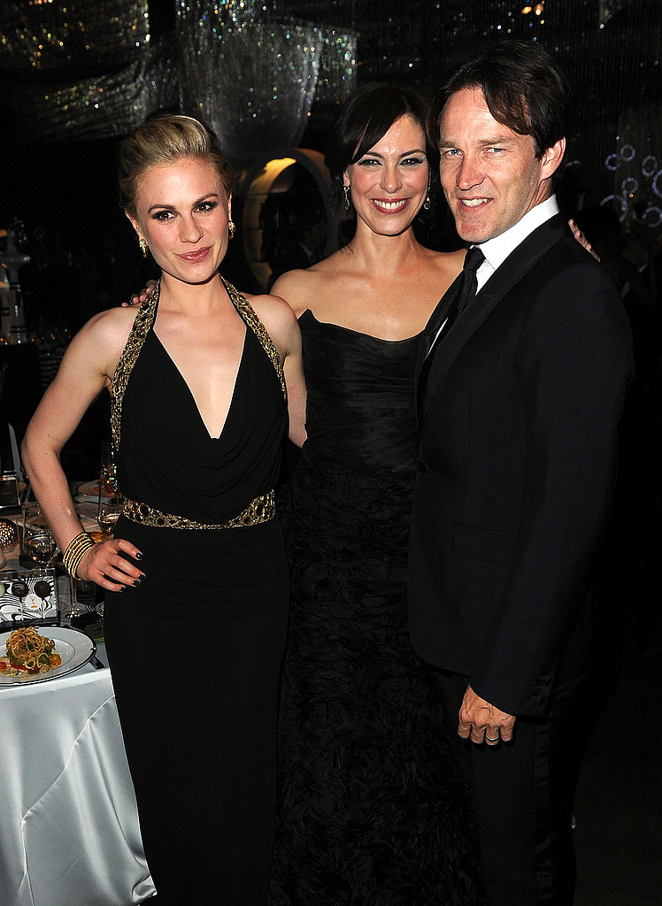 Anna Paquin, Michelle Forbes, and Stephen Moyer hung out at the Governors Ball.