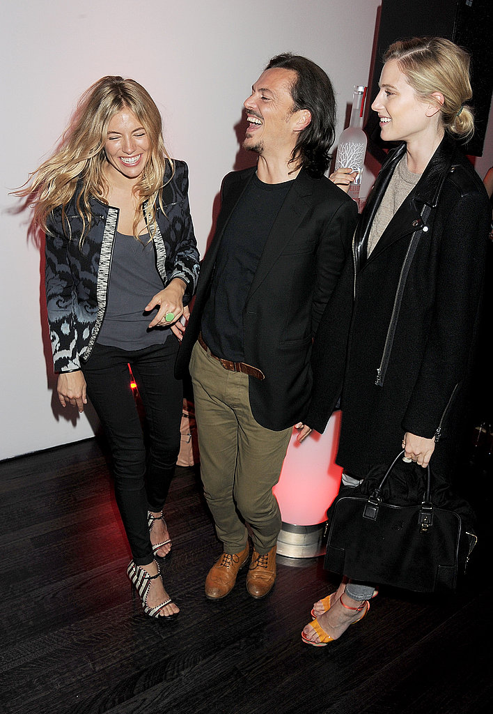 Sienna Miller, Matthew Williamson and Dree Hemingway together.