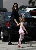 Violet Affleck goes to ballet with Jennifer Garner.