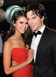 Ian Somerhalder and Nina Dobrev show PDA.