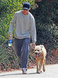 Ryan Gosling brought his dog along for a workout.