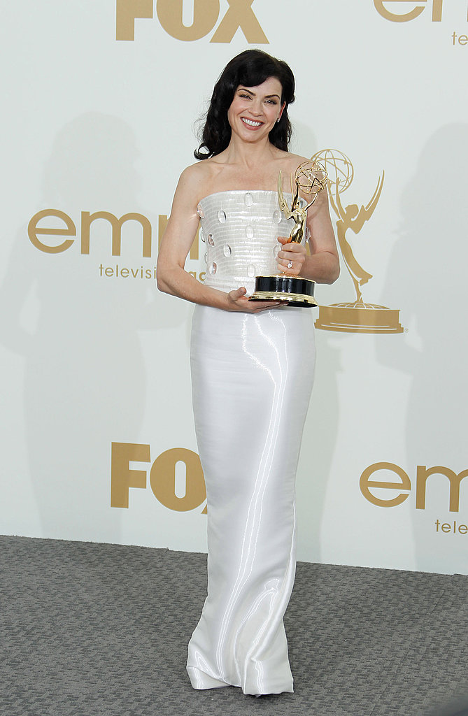Julianna Margulies in the Emmys press room.
