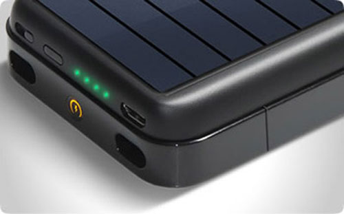 Mobius rechargeable battery case with solar panel ($80)