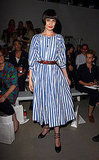 Erin O'Conner showed off her stripes at PPQ . . .