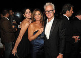 Sarah Silverman gets close to Mad Men's Talia Balsam, who posed with husband and costar John Slattery at the AMC afterparty.