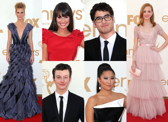 Glee at the Emmys: The Cast Goes Glam For TV's Big Day