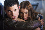 Taylor Lautner and Lily Collins in Abduction.  Photo courtesy of Lionsgate