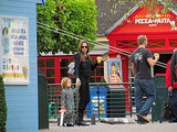 Angelina Jolie with son Knox at Legoland.